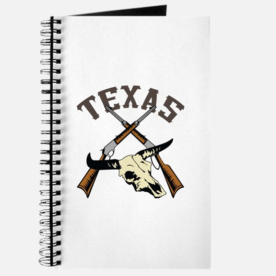 TEXAS RIFLES AND SKULL Journal