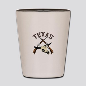 TEXAS RIFLES AND SKULL Shot Glass