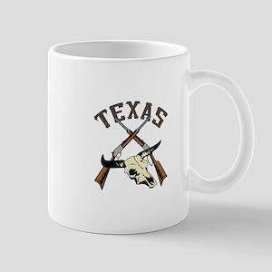 TEXAS RIFLES AND SKULL Mugs