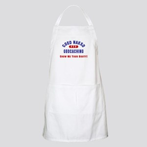 """""""Coed Naked Geocaching"""" BBQ Apron"""