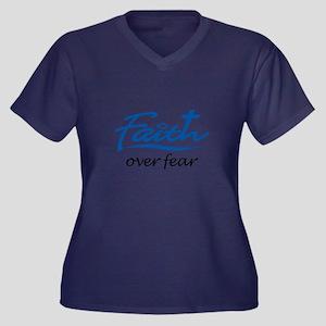 FAITH OVER FEAR Plus Size T-Shirt