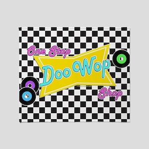 One Stop Doo Wop Shop Throw Blanket