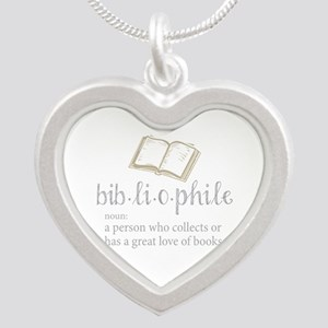 Bibliophile - Silver Heart Necklace