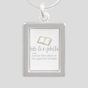 Bibliophile - Silver Portrait Necklace