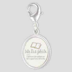 Bibliophile - Silver Oval Charm
