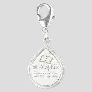 Bibliophile - Silver Teardrop Charm
