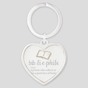 Bibliophile - Heart Keychain
