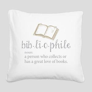 Bibliophile - Square Canvas Pillow