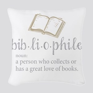 Bibliophile - Woven Throw Pillow