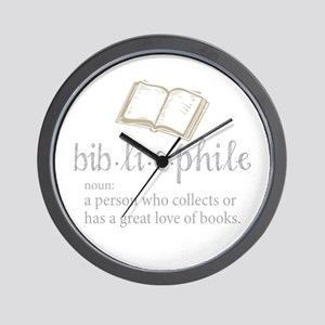 Bibliophile - Wall Clock