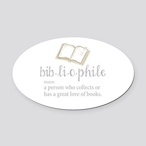 Bibliophile - Oval Car Magnet