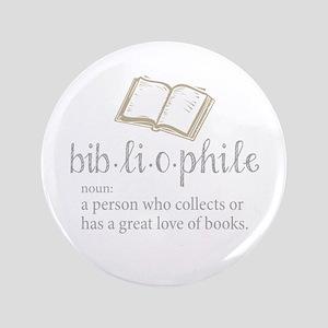 """Bibliophile - 3.5"""" Button"""