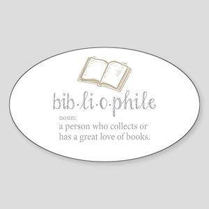 Bibliophile - Sticker (Oval)