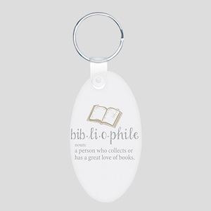 Bibliophile - Aluminum Oval Keychain