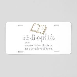 Bibliophile - Aluminum License Plate