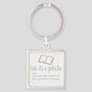 Bibliophile - Square Keychain