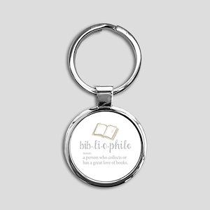 Bibliophile - Round Keychain