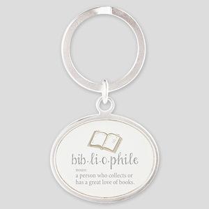 Bibliophile - Oval Keychain