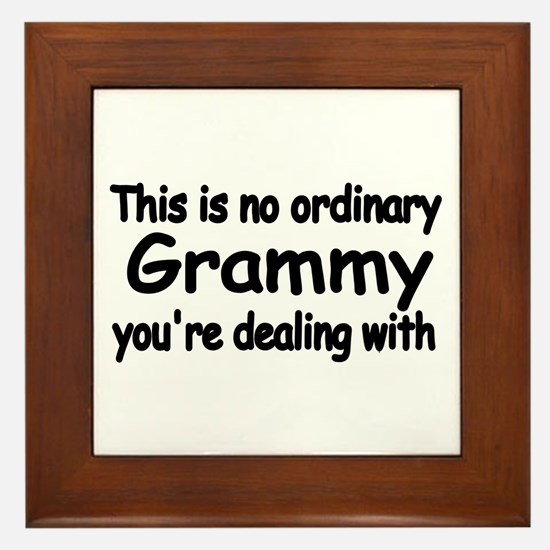 This Is No Ordinary Grammy You're Framed Tile