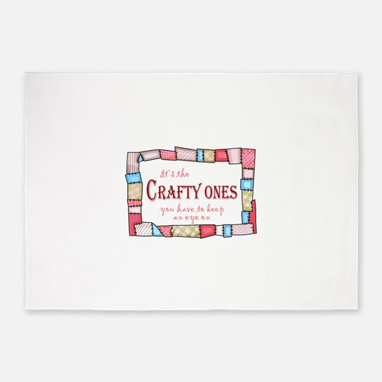 QUILTING HUMOR 5'x7'Area Rug