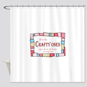 QUILTING HUMOR Shower Curtain