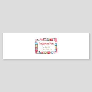QUILTING HUMOR Bumper Sticker