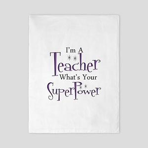 super teacher Twin Duvet