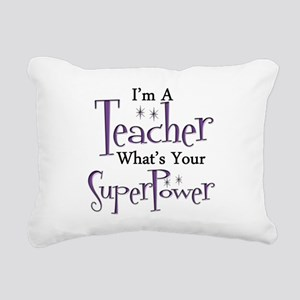 super teacher Rectangular Canvas Pillow