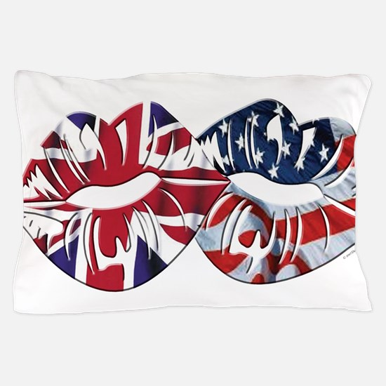 US UK Transatlantic Kiss Pillow Case
