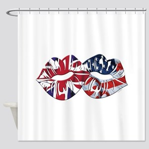 US UK Transatlantic Kiss Shower Curtain