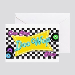 One Stop Doo Wop Shop Greeting Cards