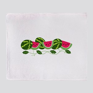 Watermelons Patch Throw Blanket