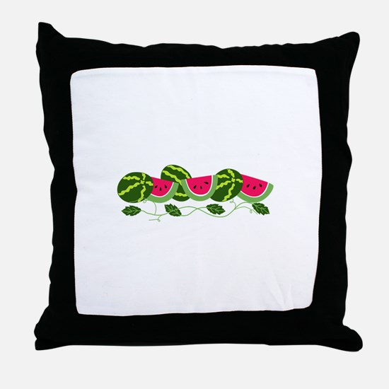 Watermelons Patch Throw Pillow