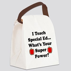 I teach special ed Canvas Lunch Bag