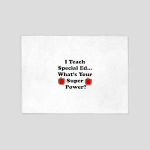 I teach special ed 5'x7'Area Rug