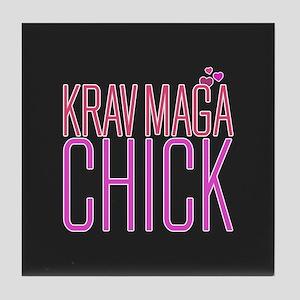 Cute Krav Maga Chick Tile Coaster