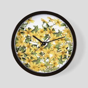 Daisy Botanical Flowers Floral Wall Clock