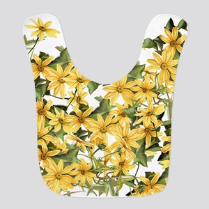 Daisy Botanical Flowers Floral Bib