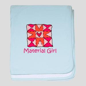 Material Girl baby blanket