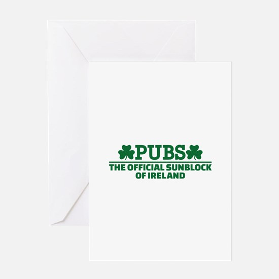 Pubs official sunblock of Ireland Greeting Card
