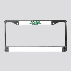Pubs official sunblock of Irel License Plate Frame