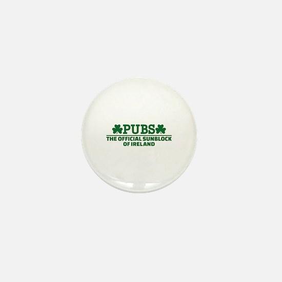 Pubs official sunblock of Ireland Mini Button