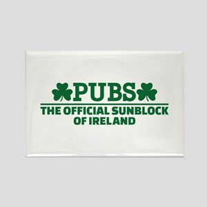Pubs official sunblock of Ireland Rectangle Magnet