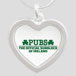 Pubs official sunblock of Ir Silver Heart Necklace