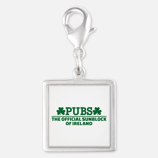 Pubs official sunblock of Ire Silver Square Charm