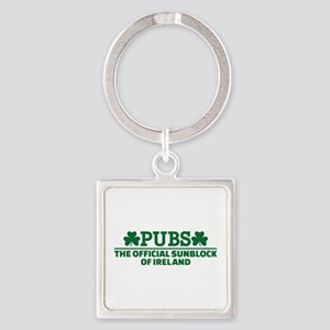 Pubs official sunblock of Ireland Square Keychain