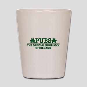Pubs official sunblock of Ireland Shot Glass