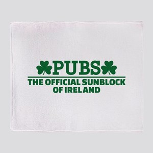 Pubs official sunblock of Ireland Throw Blanket