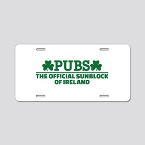 Pubs official sunblock of I Aluminum License Plate
