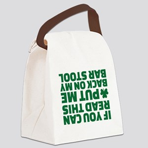 If you can read this put me back Canvas Lunch Bag